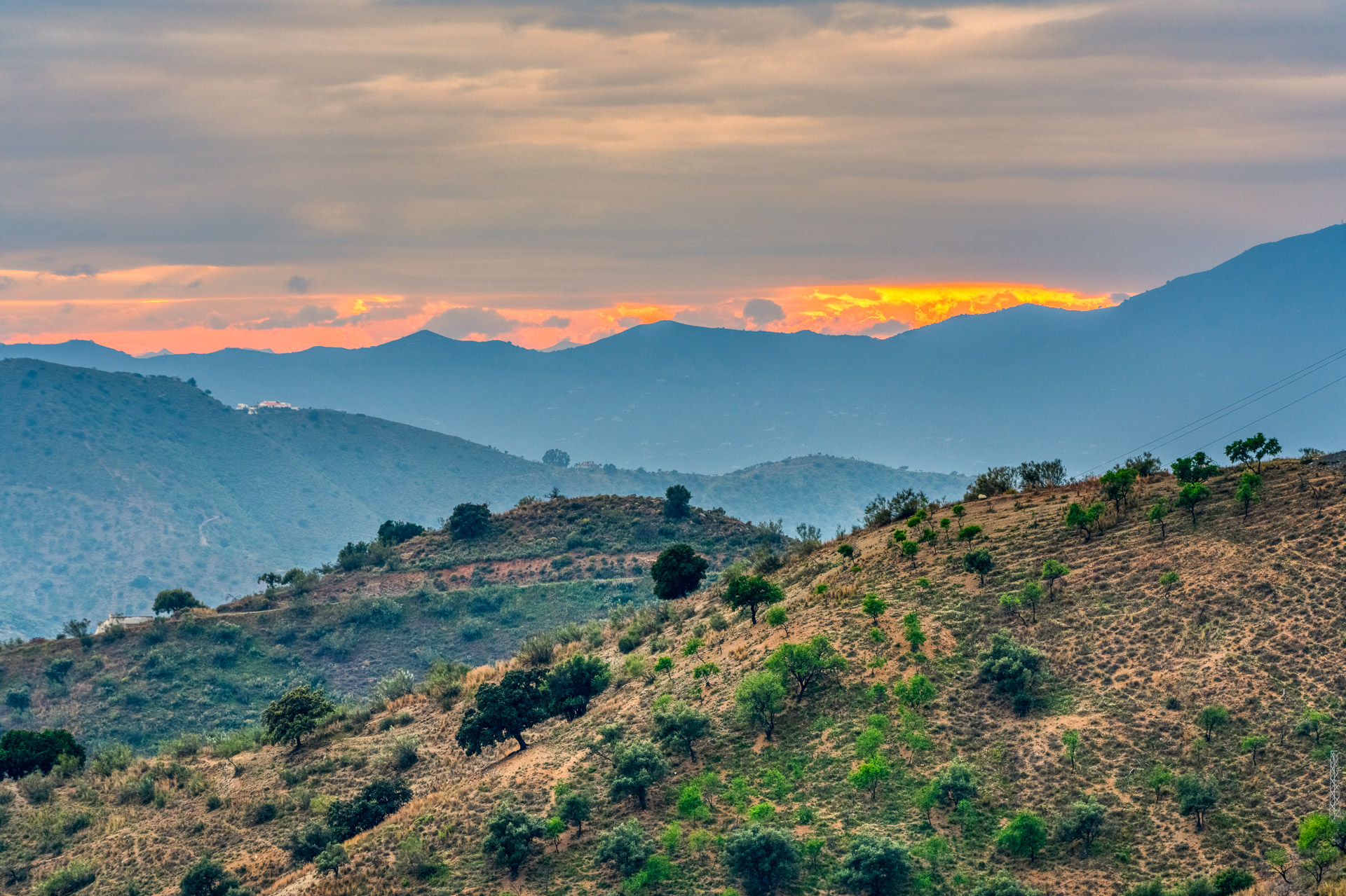 Mountain landscape in Andalucia, Spain.  Tags: Andalucia, Spain, Malaga, mountain, landscape