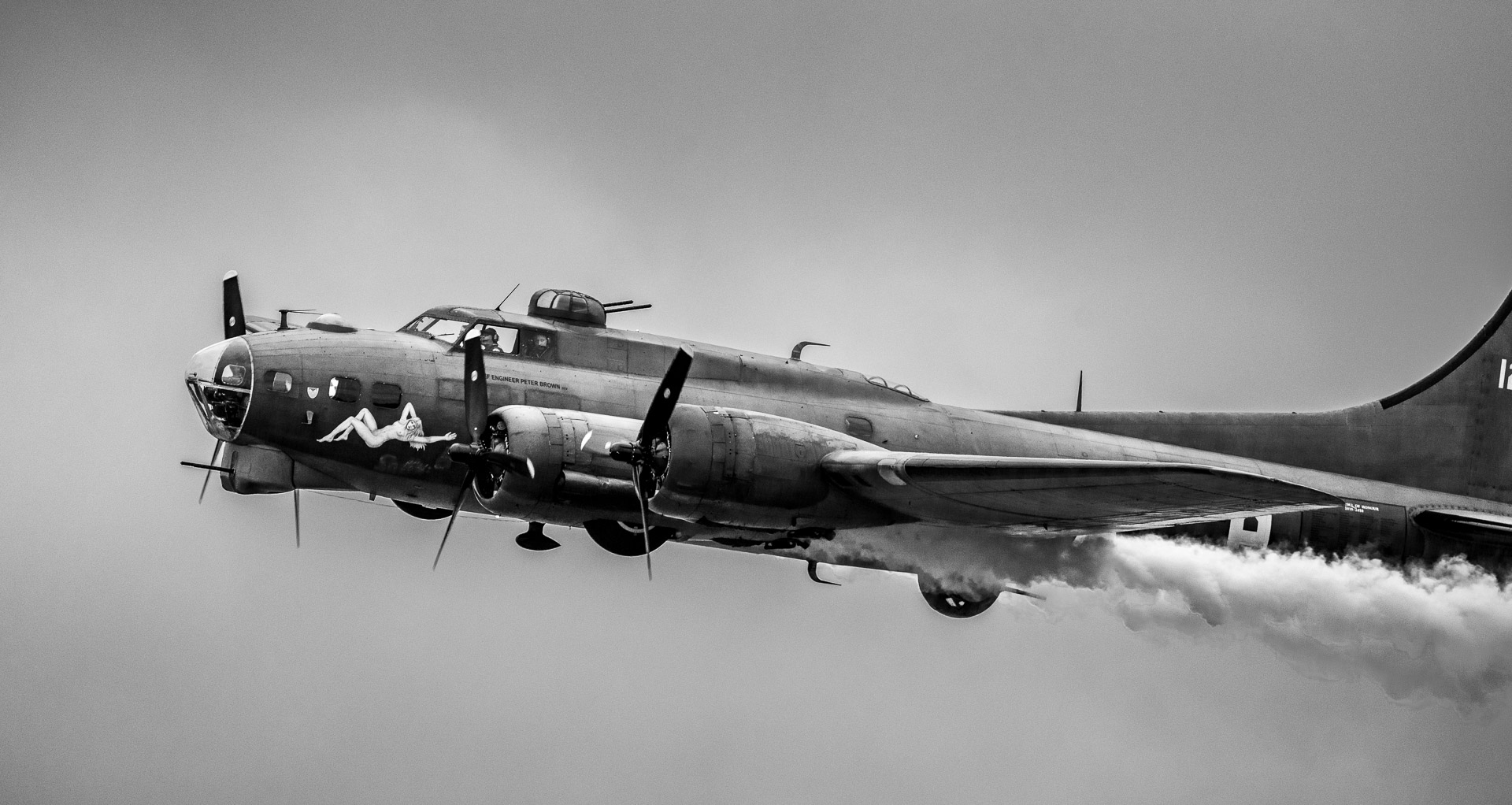 The B17 Flying Fortress at Roskilde Airshow 2019