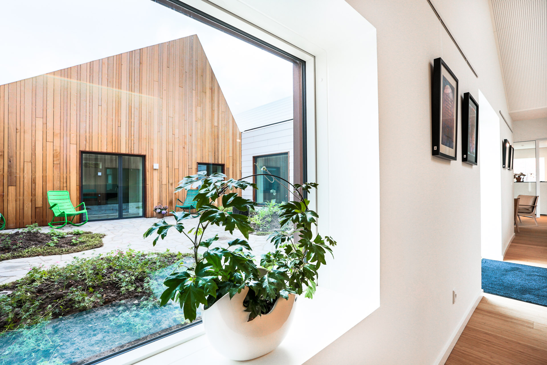 Livsrum i Næstved, tegnet af Effekt Arkitekter og bygget af Hofmann  Tags: Livsrum Næstved, Hofmann, arkitektur, Kræftens Bekæmpelse