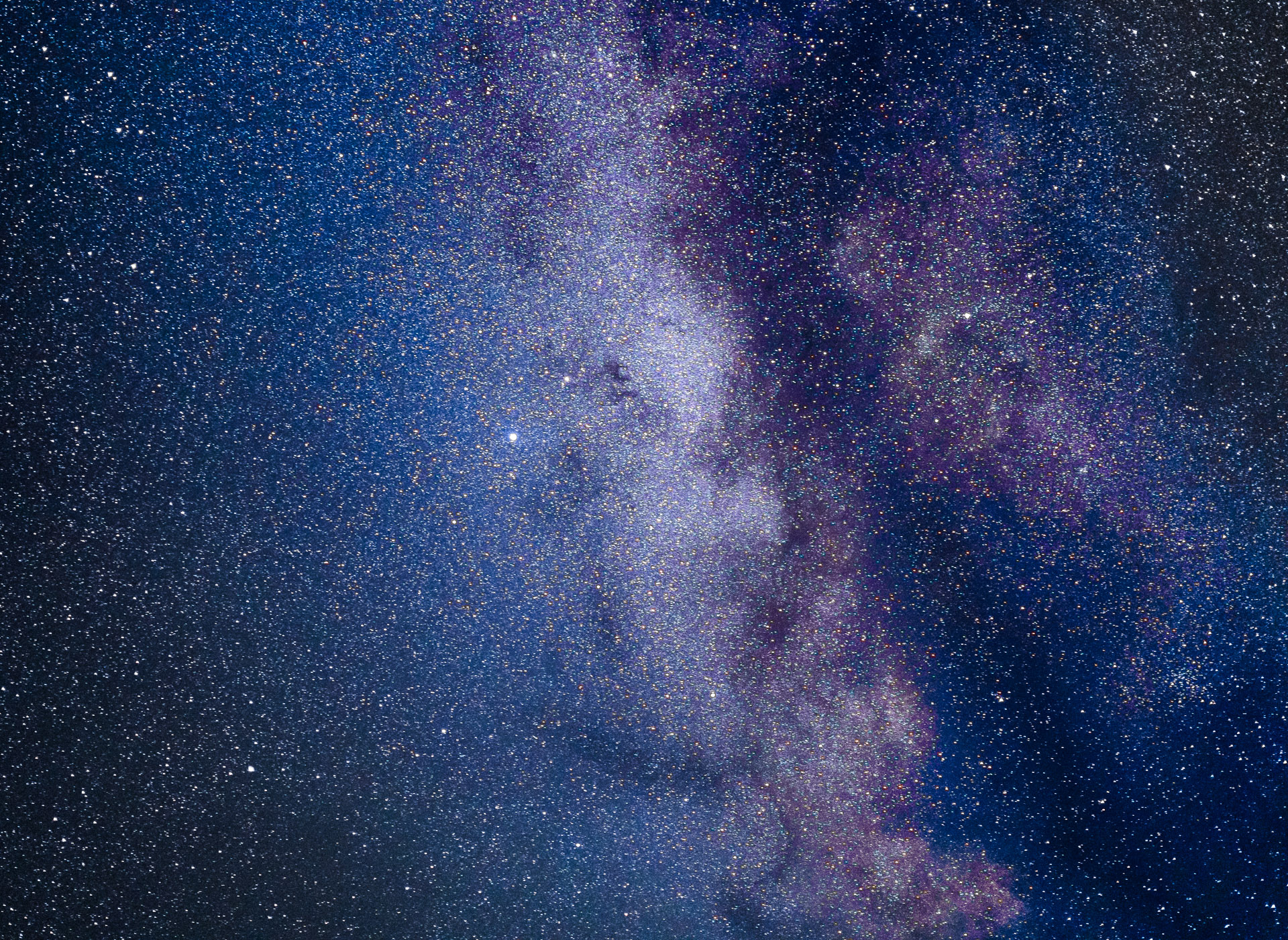 The Milky Way in the northern hemisphere - Mælkevejen på den nordlige halvkugle