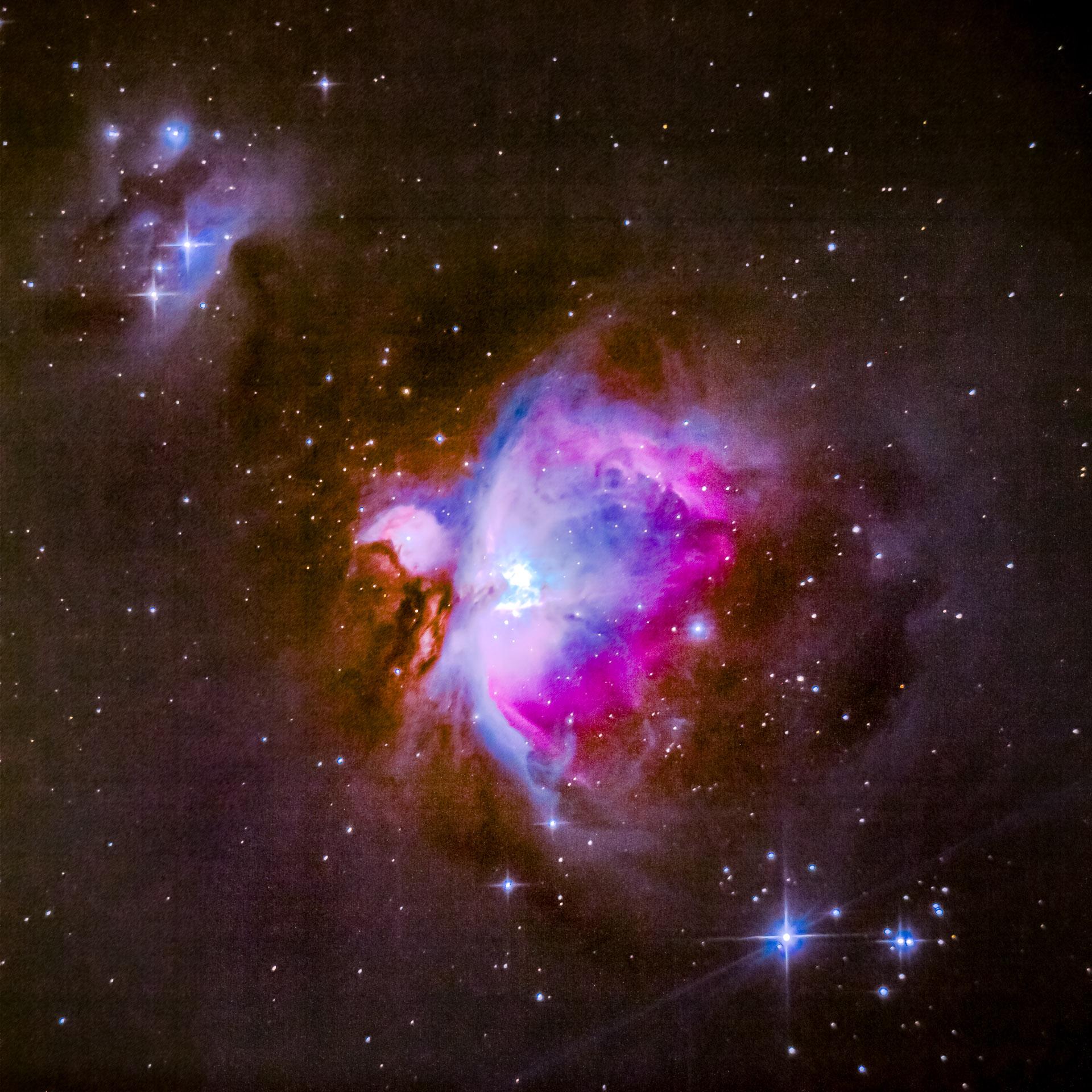 Orion tågen en klar aften i januar fotograferet fra Møns Klint